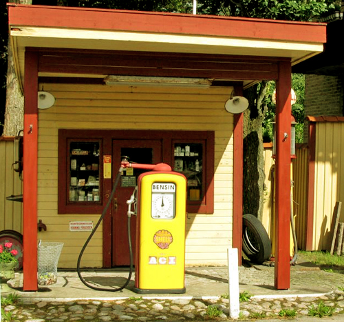 Gas station in Sweden