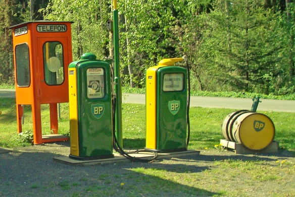 Gas station at Visingsö Island