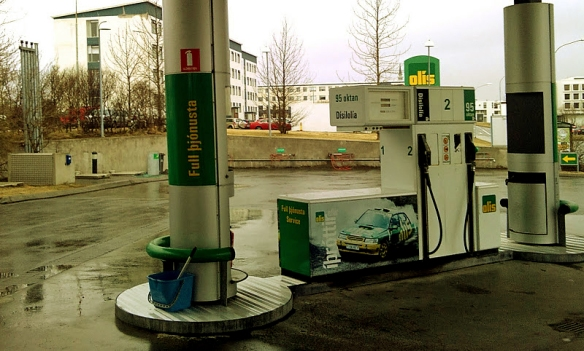 Icelandic gas station