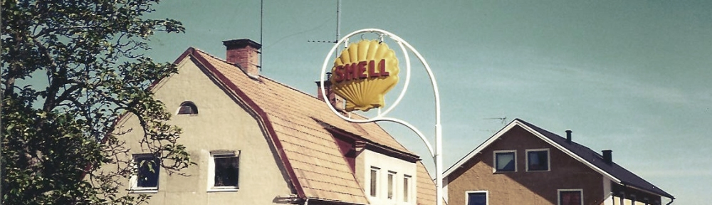 Shell station in Gusum, Sweden